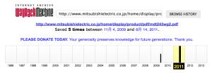 2009年と2011年のデータが保存されてました。